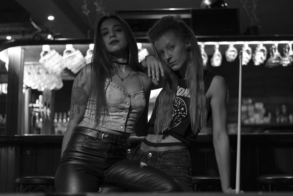 rock girls in rock bar