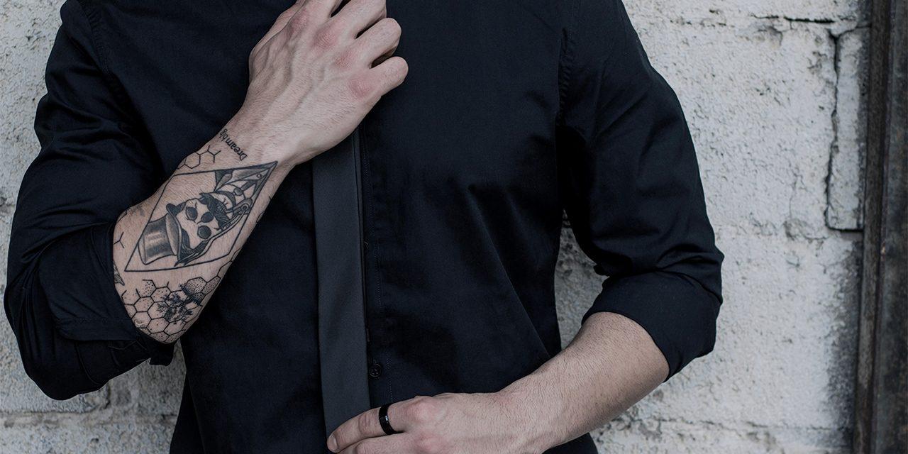 black on black layering style
