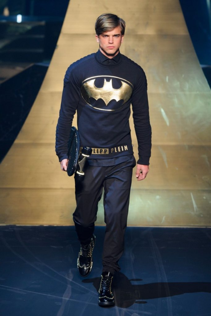 Batman shirt on catwalk
