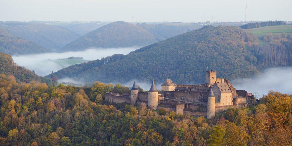 Κάστρο Bourscheid από μακριά