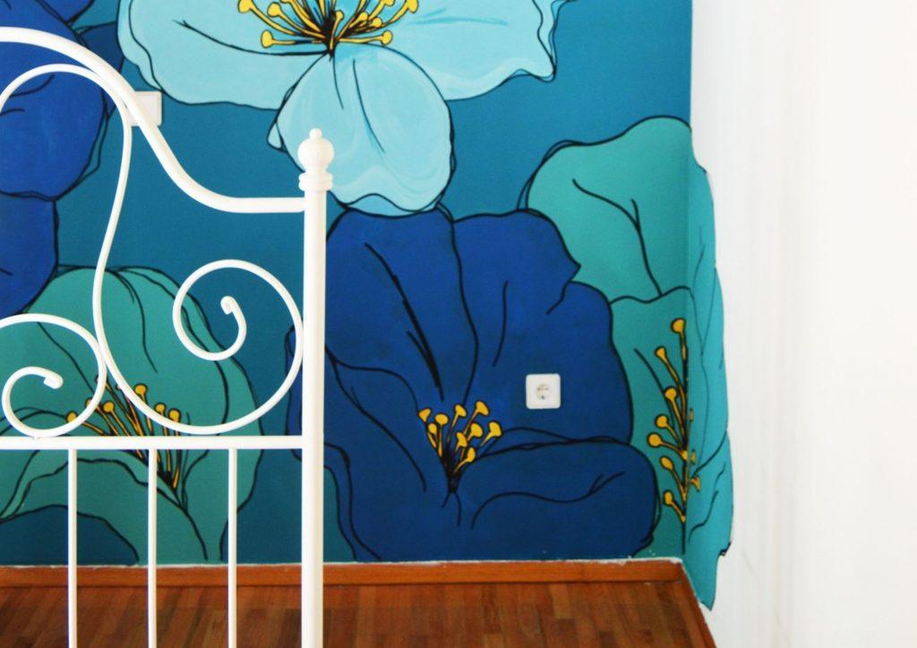 τοιχογραφία μπλε